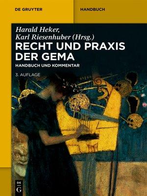 cover image of Recht und Praxis der GEMA