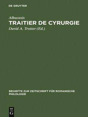 cover image of Traitier de Cyrurgie