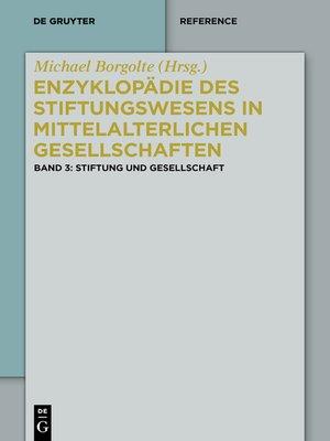 cover image of Stiftung und Gesellschaft