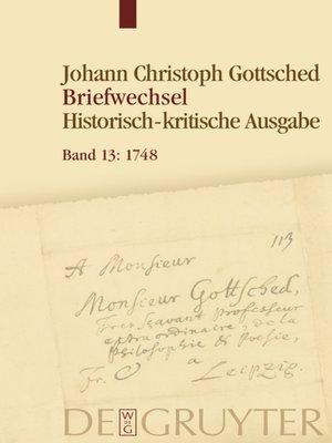 cover image of Januar 1748--Oktober 1748