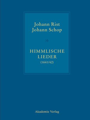 cover image of Himmlische Lieder (1641/42)