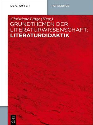 cover image of Literaturdidaktik