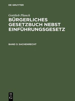 cover image of Sachenrecht