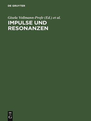 cover image of Impulse und Resonanzen
