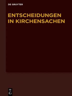 cover image of Entscheidungen in Kirchensachen 1.1.-30.6.2014