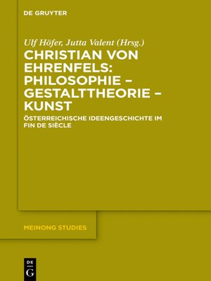 cover image of Christian von Ehrenfels