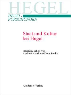 cover image of Staat und Kultur bei Hegel