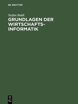 cover image of Grundlagen der Wirtschaftsinformatik