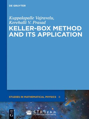 cover image of Keller-Box Method and Its Application