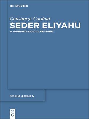 cover image of Seder Eliyahu