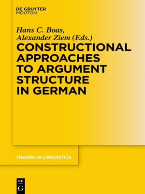 cover image of Constructional Approaches to Syntactic Structures in German