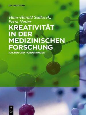 cover image of Kreativität in der medizinischen Forschung