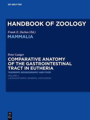 cover image of Comparative Anatomy of the Gastrointestinal Tract in Eutheria II