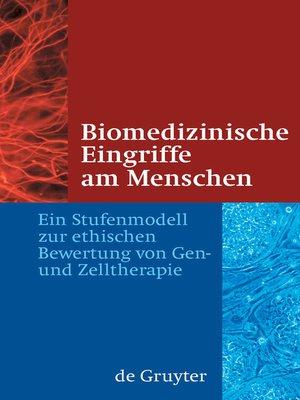 cover image of Biomedizinische Eingriffe am Menschen