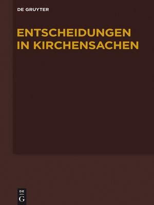 cover image of Entscheidungen in Kirchensachen 1.1.-30.6.2013