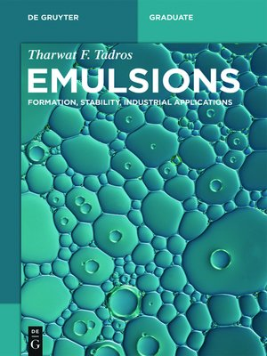 cover image of Emulsions
