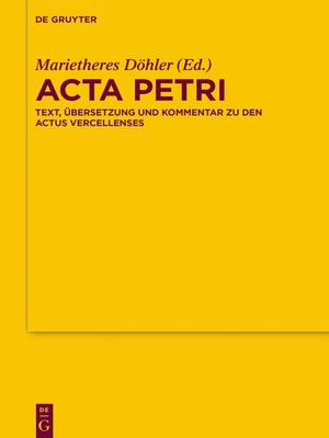 cover image of Acta Petri