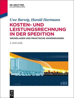 cover image of Kosten- und Leistungsrechnung in der Spedition