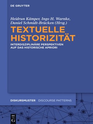 cover image of Textuelle Historizität
