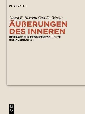 cover image of Äußerungen des Inneren
