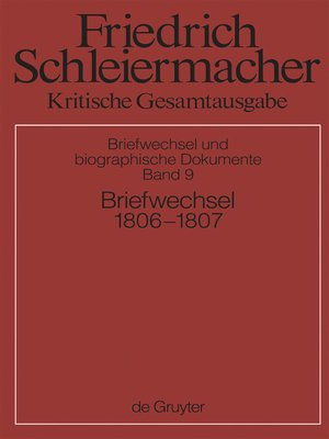 cover image of Briefwechsel 1806-1807