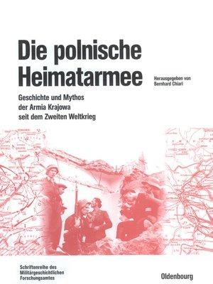 cover image of Die polnische Heimatarmee