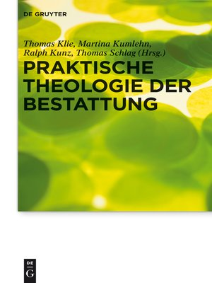 cover image of Praktische Theologie der Bestattung