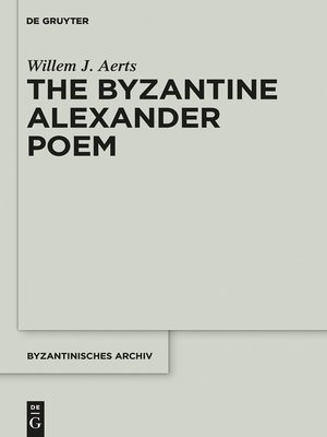 cover image of The Byzantine Alexander Poem