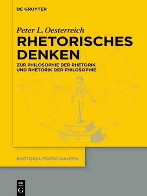 cover image of Rhetorisches Denken