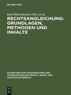 cover image of Rechtsangleichung