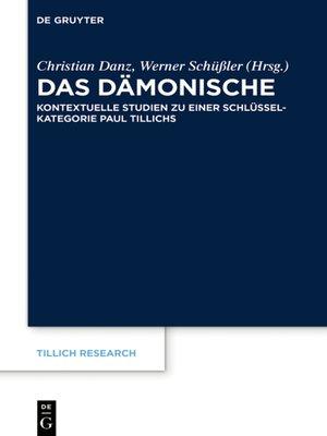 cover image of Das Dämonische
