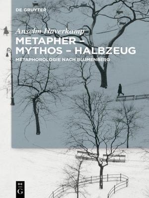 cover image of Metapher – Mythos – Halbzeug