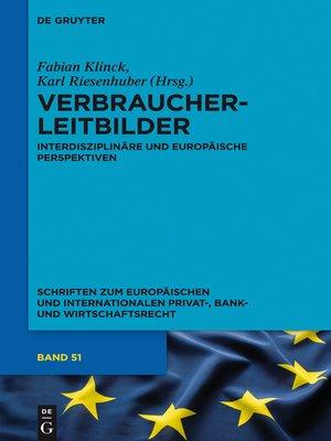 cover image of Verbraucherleitbilder