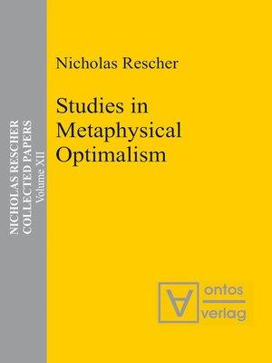 cover image of Studies in Metaphysical Optimalism
