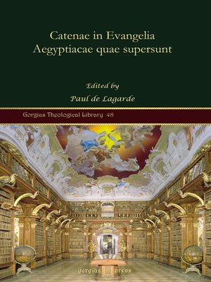 cover image of Catenae in Evangelia Aegyptiacae quae supersunt
