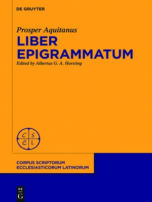 cover image of Liber epigrammatum