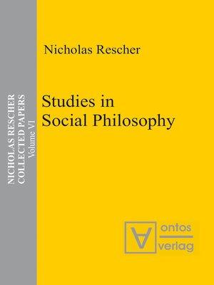 cover image of Studies in Social Philosophy