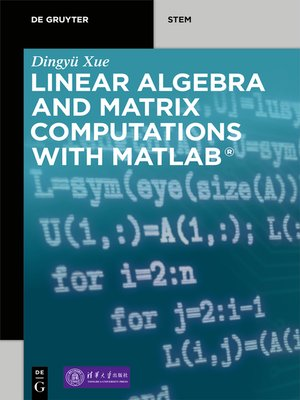 cover image of Linear Algebra and Matrix Computations with MATLAB®