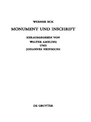 cover image of Monument und Inschrift