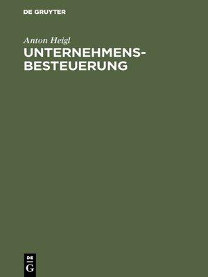 cover image of Unternehmensbesteuerung