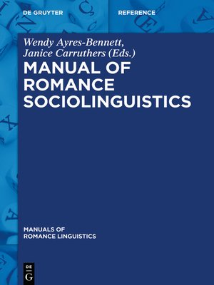 cover image of Manual of Romance Sociolinguistics