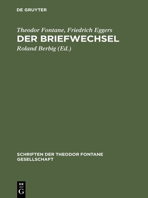 cover image of Der Briefwechsel