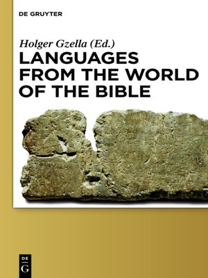 cover image of Languages from the World of the Bible