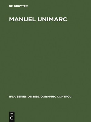cover image of Manuel UNIMARC
