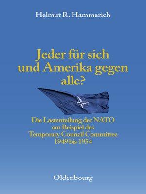 cover image of Jeder für sich und Amerika gegen alle?