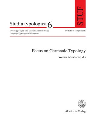cover image of Focus on Germanic Typology