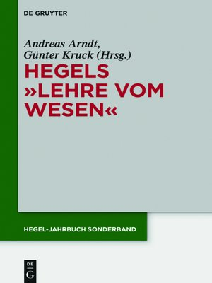 "cover image of Hegels ""Lehre vom Wesen"""