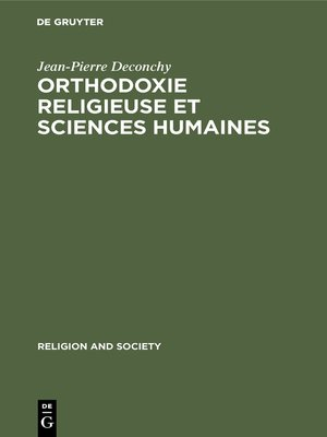 cover image of Orthodoxie religieuse et sciences humaines