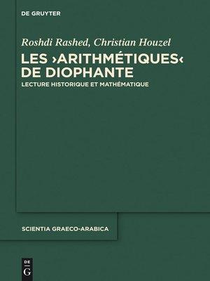 """cover image of Les """"Arithmétiques"""" de Diophante"""