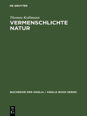cover image of Vermenschlichte Natur